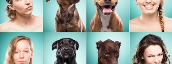Retratos de gente pareciéndose a su perro