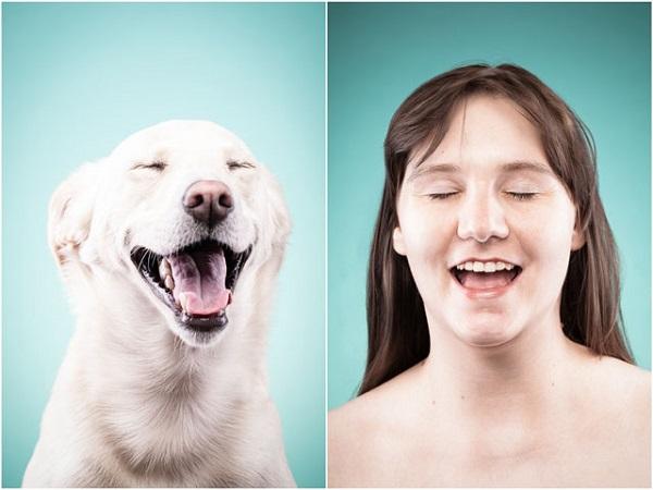 retratos de dueños y perros