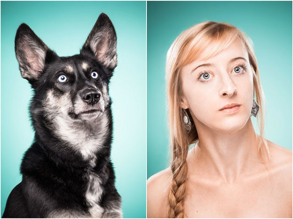 Retrato con su mascota
