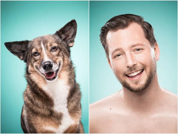 foto sonriendo como su perro