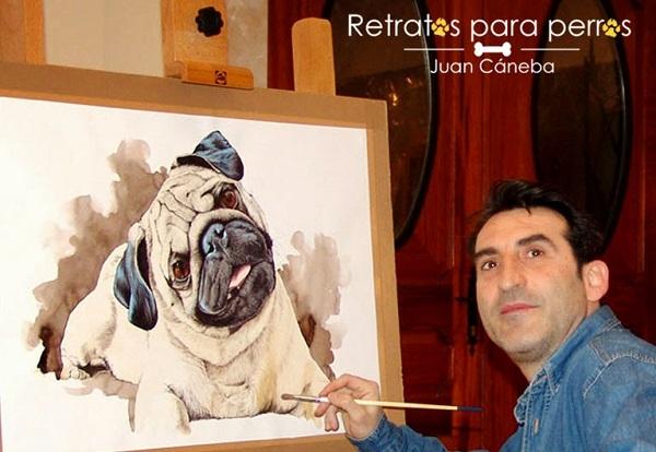 Retratos para perros por Juan Cáneba