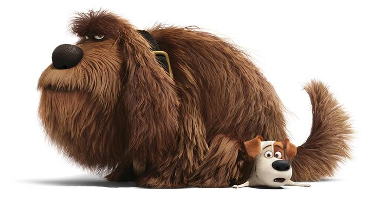 Max y Duke de la película Mascotas
