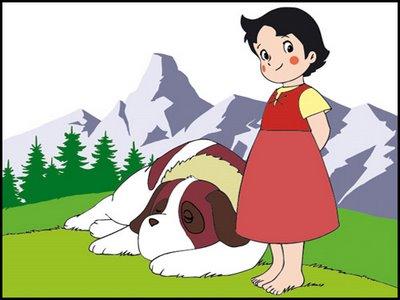 Niebla, el entrañable perro San Bernardo de Heidi