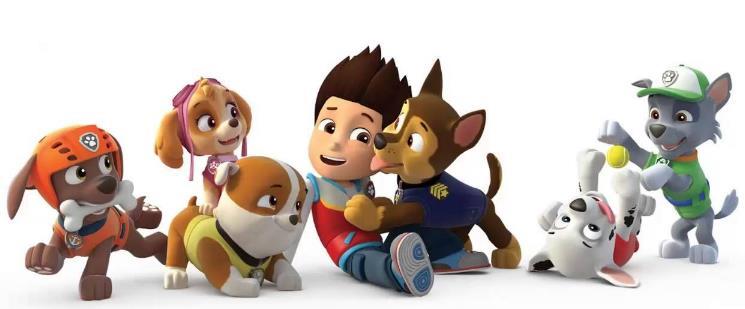 Los perritos bomberos de la patrulla canina