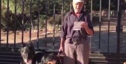 Santiago, un hombre enfermo, busca hogar para sus 6 perros