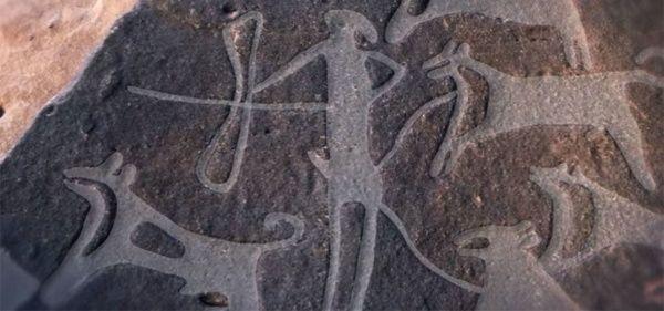 Se descubren unos retratos de perros de 8.000 años de antigüedad