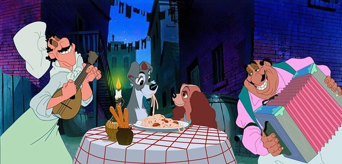 La dama y el vagabundo (1955) - Películas clásicas de Disney con perros